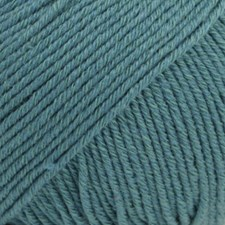Drops, Cotton Merino Uni Colour, Garn, Ullmiks, 50 g, Storm blå 26