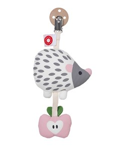 Tinka white hedgehog clip rattle, Franck & Fischer