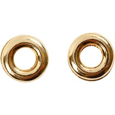 Ring, dia. 9 mm, hullstr. 4,5 mm, 10 stk., forgylt