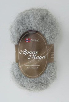 Viking of Norway Alpaca Maya 50 gr vaaleanharmaa