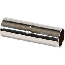 Magnetlås, L: 20 mm, hålstl. 5 mm, 2 st., försilvrad