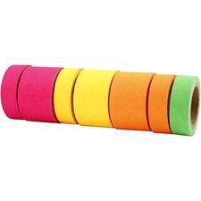 Värilliset teipit, lev. 15+30 mm, 7x10 m