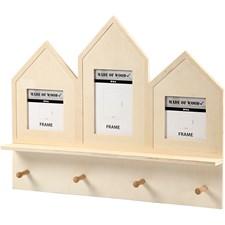 Knaggrekke, str. 50x40x6 cm, utskjæring: 9x9+9x14,2 cm, kryssfiner, 1stk.