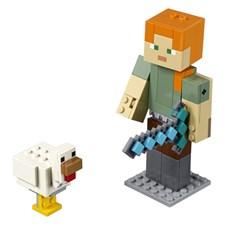 Minecraft BigFig Alex med kyckling, LEGO Minecraft (21149)