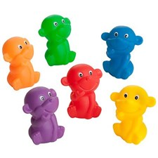 Regnbågsfamilj apor för badet, 5 delar, Rätt Start