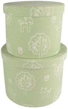 Förvaringsboxar 2-pack Bambi, Ljusgrön, Form Living