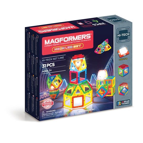 Magformers - Neon LED Set - klossar & byggleksaker
