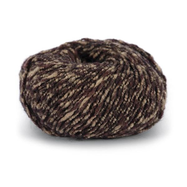 Knit At Home Soft Superkid Garn Mohair Ullmix 50 g Brun/Beige Melert 1007