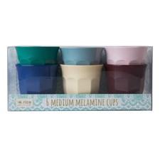 Rice Urban Colors Muggar 6-pack H: 9 cm Melamin
