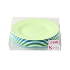 Rice Tallrikar 6-pack Blå Gröna dia 20 cm