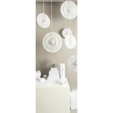 Honeycomb, Vifte, 3 stk., 40/30/25 cm, Hvit, Rico Design