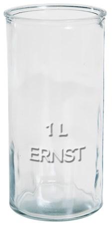 ERNST Rustika Glas Med Relieftext 1 L Transparent