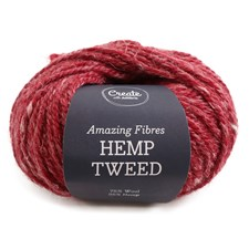 Adlibris Hemp Tweed 50g Raspberry A483
