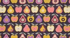 Stoff Epler og Pærer Gul, 50 x 160 cm