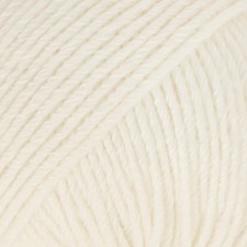 Drops, Cotton Merino Uni Colour, Garn, Ullmiks, 50 g, Natur 01