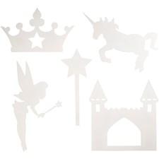 Satu-kartonkikuviot, kork. 13,5-27,5 cm, lev. 9,5-25 cm, 16kpl, 230 g