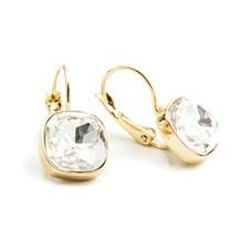 Square drop Örhängen, Crystal Gold