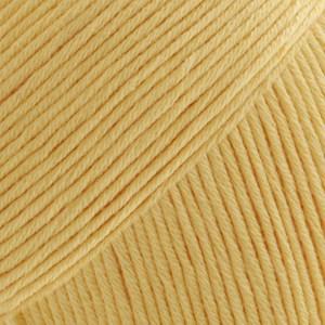 Safran Drops design Garn Bomull 50 g vaniljegul 10