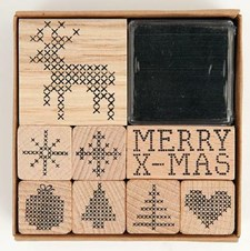Stämpelset Merry christmas. 8x8 cm 8 stämplar