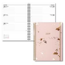 Kalender 2019 Burde Senator A6, Multi, guldstänk
