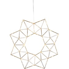 Star Trading LED-Krans Edge 40x6x40 cm Mässing