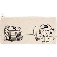 Pennal, str. 21x9 cm,  245 g/m2, lys natur, pirat, 1stk.