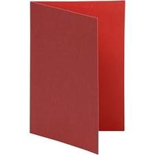 Brevkort, str. 10,5x15 cm, 250 g, 10 stk., vinrød/rød