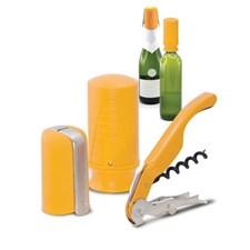 Pulltex Viini- & Samppanjasetti 3 osaa Keltainen