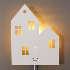 Vägglampa Hus, Vit, Roommate