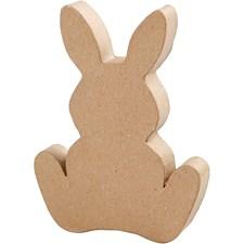 Kanin papier-maché, H: 18 cm, djup 2,5 cm