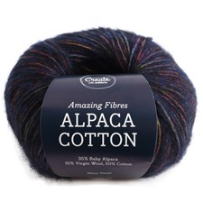 Adlibris Alpaca Cotton 50g Navy Twist A698