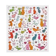 Stickers, ark 15x16,5 cm, Katter, 1ark