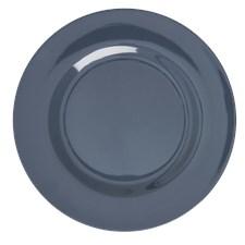 Rice Middagtallrik Melamin D:25 cm Mörkgrå