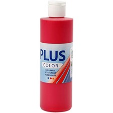 Plus Color-askartelumaali, 250 ml, marjanpunainen
