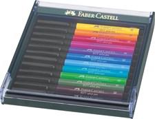 Faber-Castell Pitt Artist Pen Plastetui m/12 Basisfarger