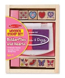 Sommerfugler og hjerter, Stempelsett, Melissa & Doug