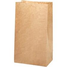 Papperspåse, stl. 15x9x27 cm, 50 g, 100 st., brun
