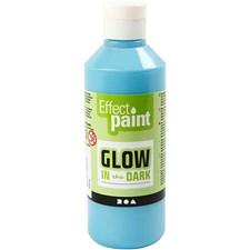Färg Självlysande 250 ml Ljusblå