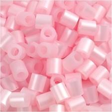 Rörpärlor 5x5 mm 6000 st Rosa Pärlemor (26)