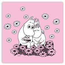 Opto Design Muumit Love Lautasliina 33 x 33 cm Vaaleanpunainen