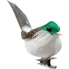 Lintu, kork. 4,5 cm, lev. 10 cm, 3 kpl, vihreä