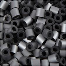 Rörpärlor, stl. 5x5 mm, hålstl. 2,5 mm, silver (55), medium, 6000st.