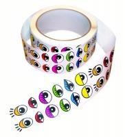 Klistermärken ögon på rulle Playbox