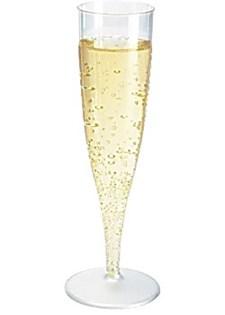 Plastglas Champagne med Fast Fot 13,5 cl Transparent 10 st