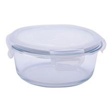 Glasskål m/plastlokk , 0,6 L, Rund