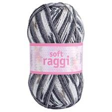 Soft Raggi 100g Grå print (31205)