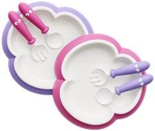 Barntallrik, sked & gaffel 2-pack, Rosa/Lila, BabyBjörn