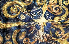 Doctor Who Exploding Tardis Canvas 60 x 80cm