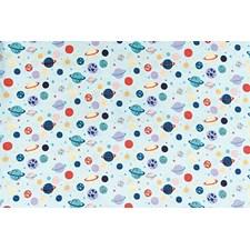 Puuvillakangas Planeetat ja Tähdet 50x140 cm Minttu
