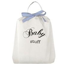 Bag-all Baby Fancy Blue Tygpåse 100% Bomull 33x31x6 cm Svart/Vit